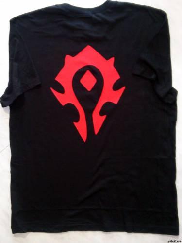 Печать на футболку Варкрафт рисунки и логотип в течение дня