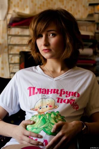 Рисунок и надпись на футболку для беременной